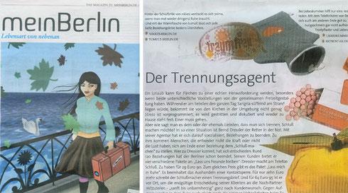 """Tagesspiegel Beiliage """"Mein Berlin"""". November 2008"""
