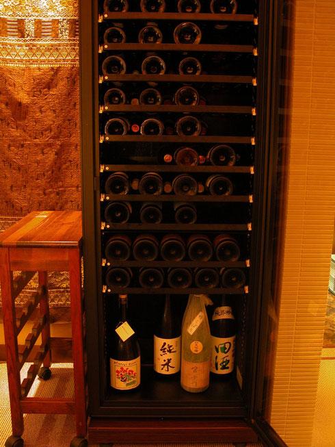 店内のワインセラー