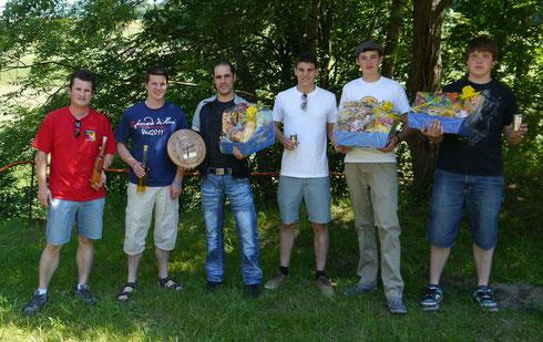 Die Sieger des Jungschützen-Wettschiessens 2012