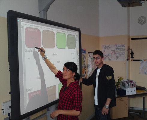 Die interaktive Tafel im Einsatz