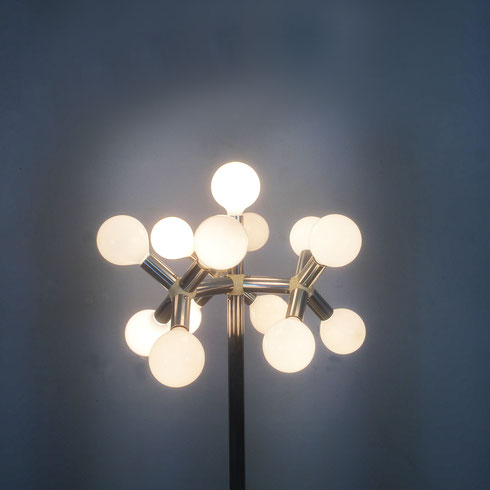 """Floor Light - """"Lichtstruktur"""" Trix & Robert Haussmann for Swisslamps International, 1965"""