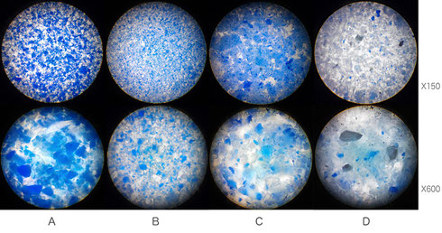 ラピスラズリ Lapis lazuli 顕微鏡