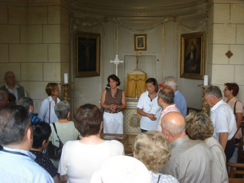 Dans la chapelle du château de Pont-Chevron