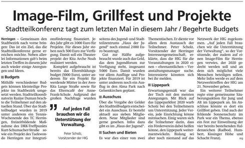 WA 19.11.19 - Image-Film, Grillfest und Projekte