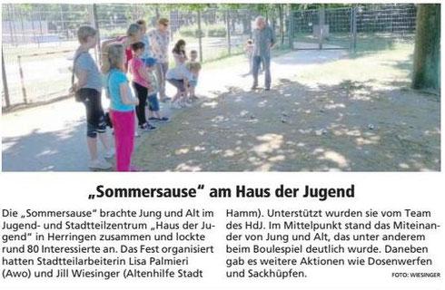 """04.07.19 - """"Sommersause"""" am Haus der Jugend"""