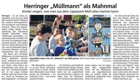 """WA 25.10.19 - Herringer """"Müllmann"""" als Mahnmal"""