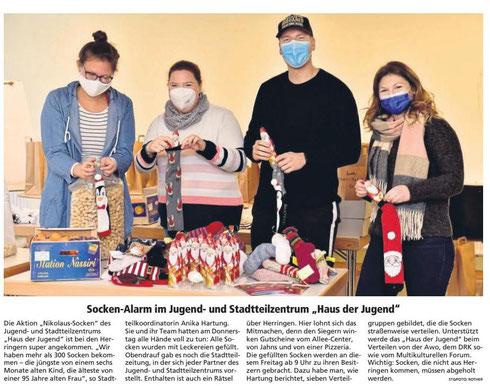 WA 2020.12.04 - Socken Alarm im Jugend- und Stadttelzentrum Haus der Jugend
