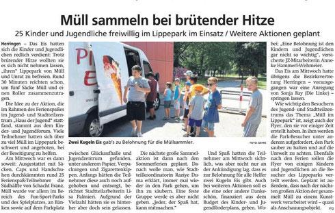 WA 26.07.19 Müll sammeln bei brütender Hitze