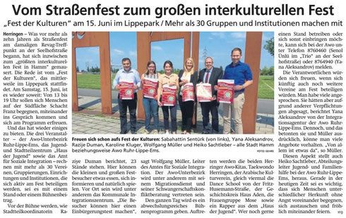 17.04.2019 - Vom Straßenfest zum großen interkulturellen Fest