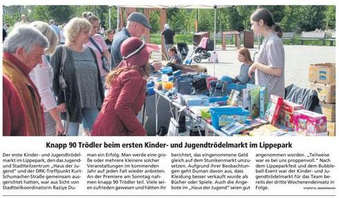 WA 17.09.19 - Knapp 60 Trödler beim ersten Kinder- und Jugendtrödelmarkt im Lippepark