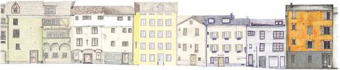 Zeichnungswoche in der Churer Altstadt (Vergrössern durch Anklicken)