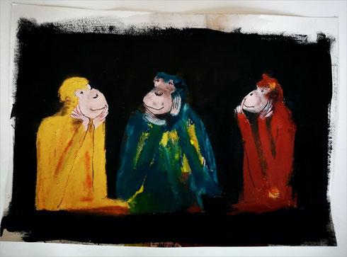 Christiane Holsten: Affenkunst XV
