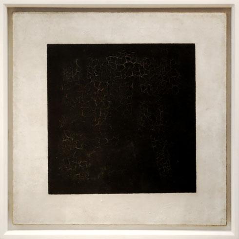 Schwarzes Quadrat auf weißem Grund, 1915 erstmals ausgestellt, Tretjakow-Galerie, Moskau | Foto: Kasimir Malewitsch | Diese Datei ist lizensiert unter der Creative Commons Attribution-Share Alike 3.0 Unported Lizenz (CC BY-SA 3.0)