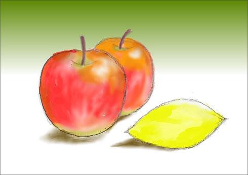 りんごとレモン