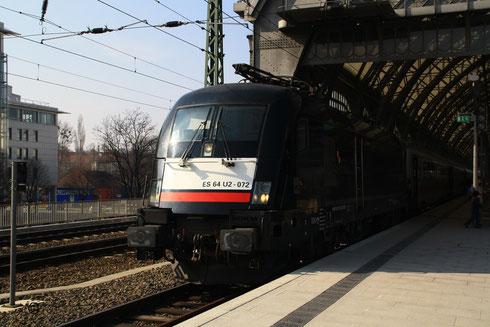 182 572 nach Ankunft mit EC in Dresden Hbf