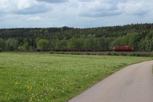 265 021 mit Schienenzug bei Colmnitz