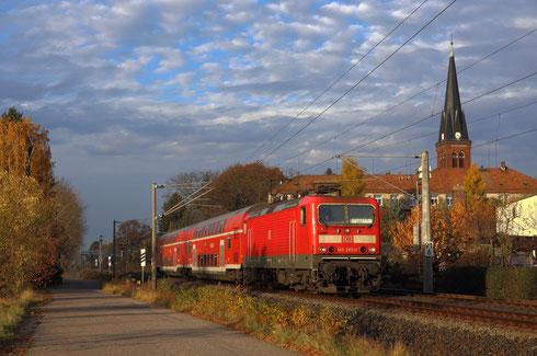 143 283 mit RB 30 nach Dresden in Grüna