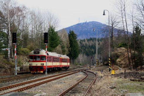 Schnellzug Köln (Kolin)- Rumburg auf dem lausitzer Semmerring am Tannberg