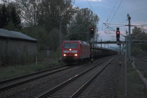 145 007 mit Autoleerzug 47337 in Klingenberg-Colmnitz