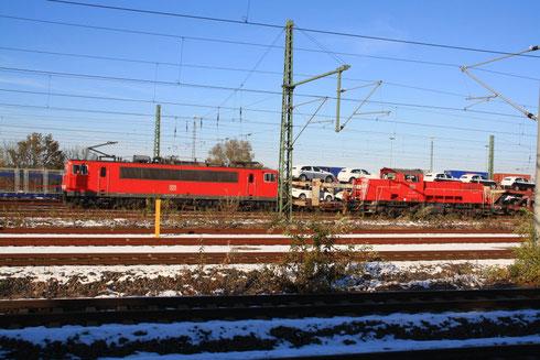 261 025 und 155 019 in Glauchau