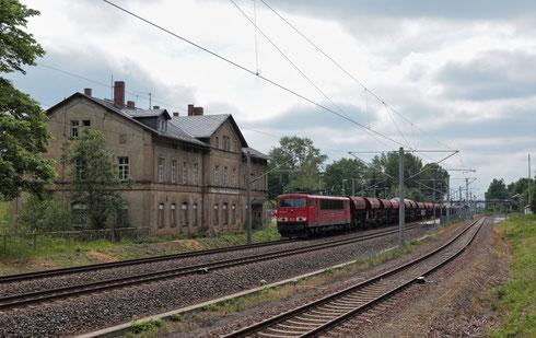 155 037 mit GB 62134 in Klingenberg
