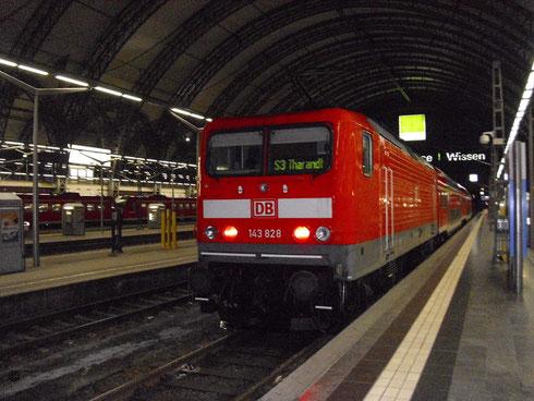 143 828 mit S-Bahn nach Tharandt