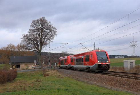 641 037 und 038 als RE 3 nach Hof in Colmnitz