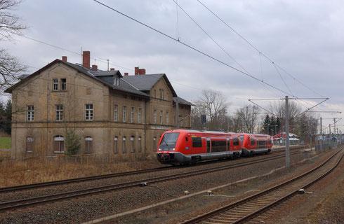 641 038 und 037 als RE 3 nach Dresden in Klingenberg