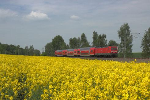 Neuzugang aus Trier: 143 919 vor RE bei Hilbersdorf