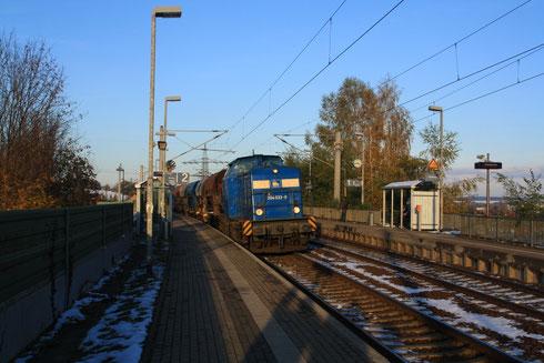 204 033 mit Schotterzug in Glauchau Schönbörnchen