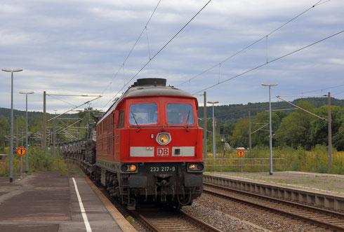 233 217 mit Militärzug aus Marienberg in Flöha
