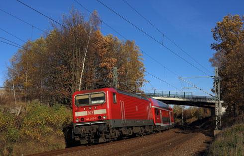 143 283 mit RB 30 in Niederbobritzsch