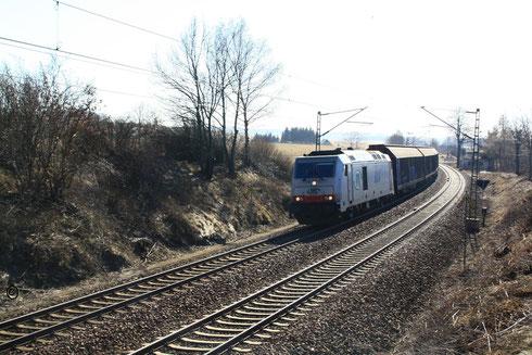 285 108 mit Gz aus Weißenborn am BÜ Colmnitz