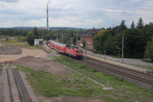 143 370 mit RB 17223 in Chemnitz Hilbersdorf