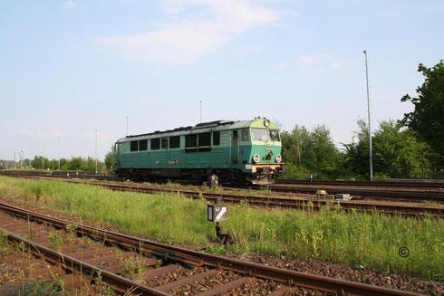 Der Kohlegz aus Polen ist angekommen. Zuglok war SU 46-017 hier beim rangieren