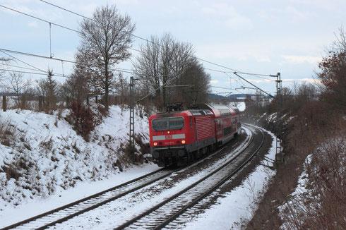 143 973 als RB 30 nach Dresden bei Colmnitz