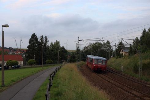 172 171 und zwei weitere Ferkeltaxis auf dem Weg von Spreewitz nach Chemnitz in Hilbersdorf