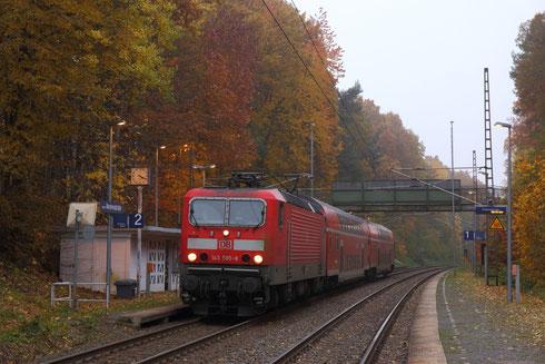 143 585 als RB 17174 nach Elsterwerda in Chemnitz Kinderwaldstätte
