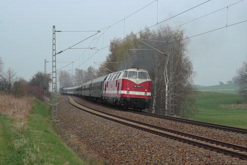 118 770 als Schublok am Leersonderzug nach Dresden