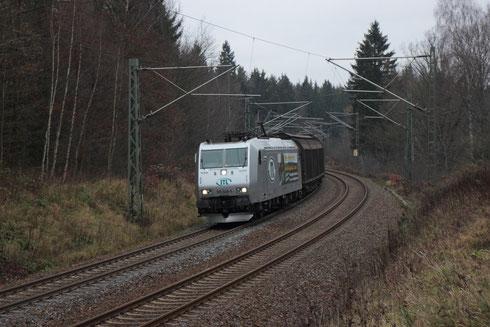 185 548 mit Papierzug bei Klingenberg