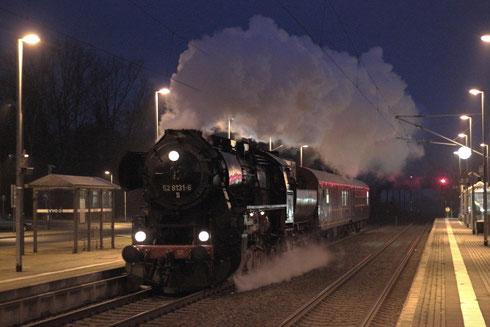 52 8131 der WFL mit einem Chartersonderzug in Klingenberg