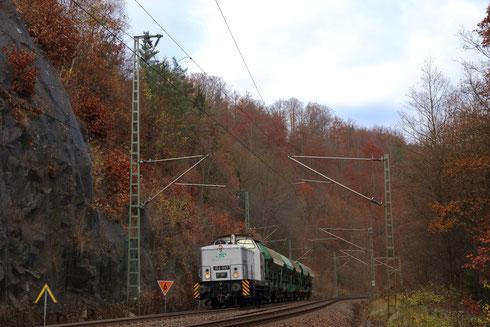 106 007 als Ausbildungsfahrt zwischen Edle Krone und Dorfhain