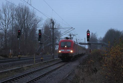 182 506 mit einem Messzug im Bhf Klingenberg-Colmnitz