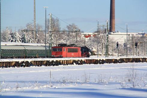 155 183 und 52 8079 in Freiberg