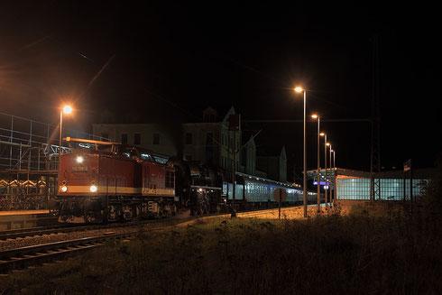 112 708 und 35 1097 mit Sonderzug von Jungenbunzlau nach Glauchau in Freiberg