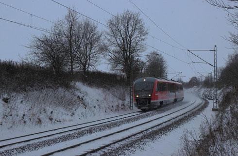 642 658 als S 30 nach Dresden bei Colmnitz