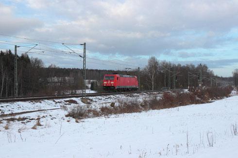 185 345 als T 65437 nach Zwickau bei Colmnitz