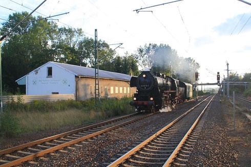 52 8079 auf dem Weg von Lutherstadt Wittenberg über Chemnitz/Stollberg nach Dresden