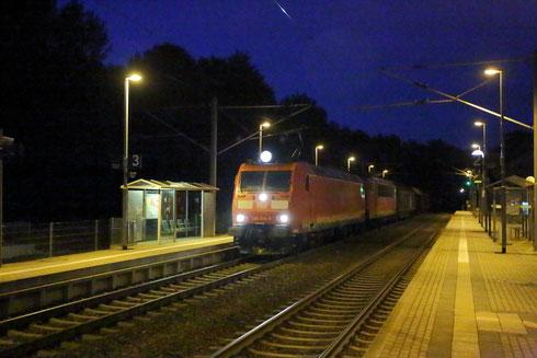 185 014 und 155 031 mit umgeleitetem Güterzug in Klingenberg