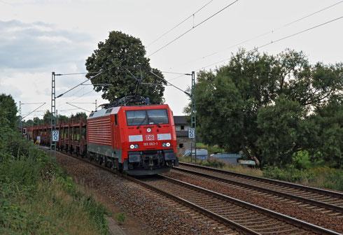 189 063 mit GA 47355 am BÜ Colmnitz